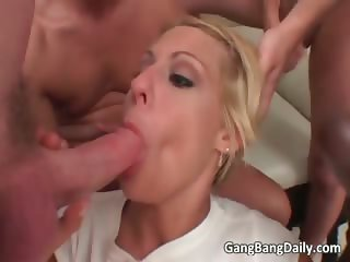Gang bang session with horny blonde part6
