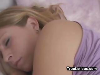 Lesbian Sleep Strapon Fucking