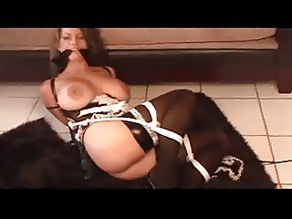Busty Maid Tied Up