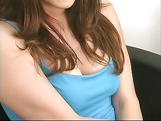 Chick in glasses strips and uses dildo for pleasure